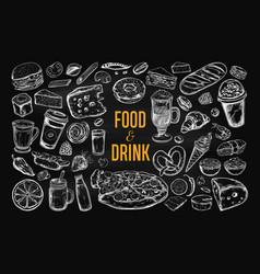 food and drink big set 2 vector image