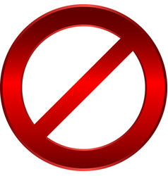 forbidden sign vector image