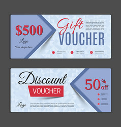 gift voucher template vector image vector image
