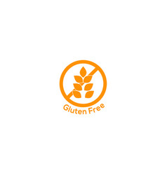 Gluten free icon no wheat symbol vector