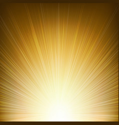 Golden sunburst background vector
