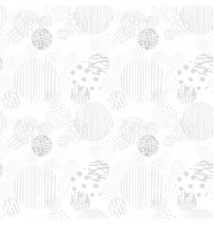 Gray seamless pattern with hand drawn abstract vector