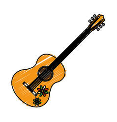 Guitar instrument icon vector