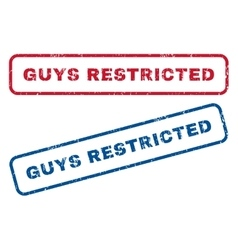 Guys restricted rubber stamps vector