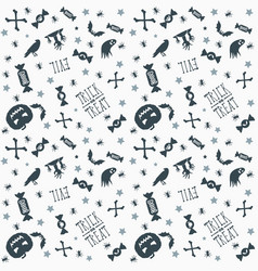 halloween background seamless pattern design vector image