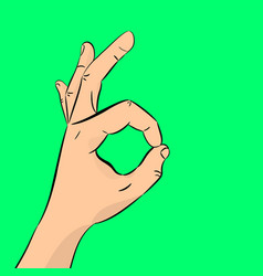 Hand ok the concept of communication gestures vector