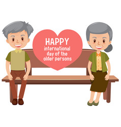 Happy international day older persons vector