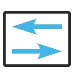 Horizontal Exchange Arrows Framed Icon vector