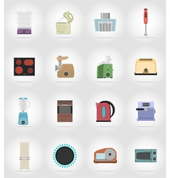 household appliances for kitchen 17 vector image