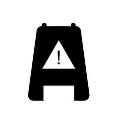 icon caution wet floor vector image