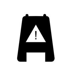 Icon caution wet floor vector
