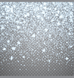 Isolated christmas falling snow overlay on vector