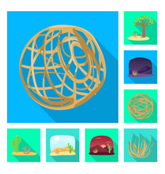 isolated object landscape and nature sign vector image