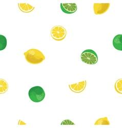 Lemon and lime lemonade white seamless pattern vector