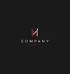 Letter m human people creative business logo vector