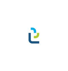 lower case letter t logo design concept vector image