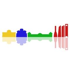 madrid skyline vector image