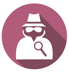 Man in suit secret service agent icon a long vector