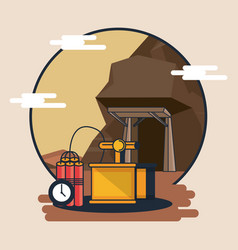Mining and tools vector