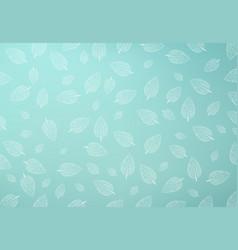 mint leaf pattern green mint gradient mesh vector image