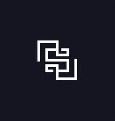Monogram initial letter s logo vector