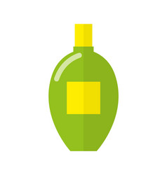 Natural skin oil in glossy bright plastic bottle vector