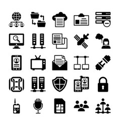 network and communication icons 11 vector image
