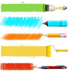 Paint icon set vector