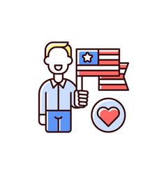 patriotism rgb color icon vector image