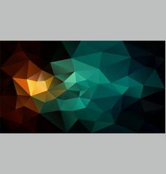 Polygonal background blue green brown black vector
