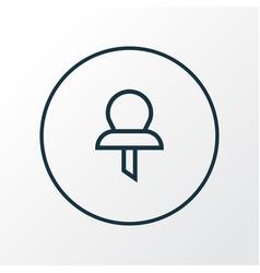 pushpin icon line symbol premium quality isolated vector image