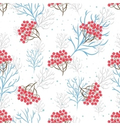 Rowanberry branch seamless pattern vector image