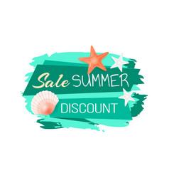 Sale discount summer banner vector