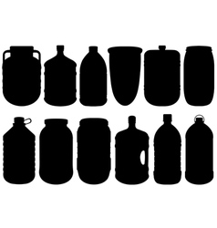 Set of different big bottles vector image