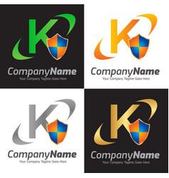 Shield logo design template vector