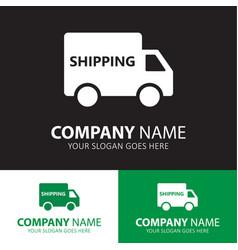 Shipping truck icon vector