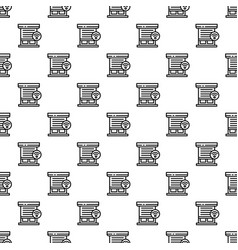 smart louver pattern seamless vector image