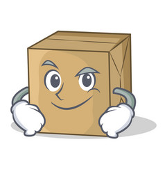 Smirking cardboard character character collection vector