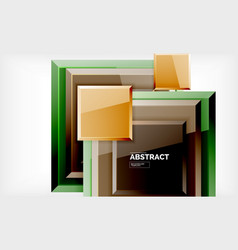 square geometrical background vector image