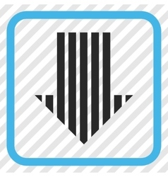 Stripe Arrow Down Icon In a Frame vector