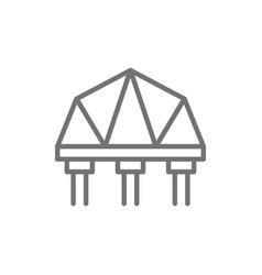 suspension bridge line icon vector image