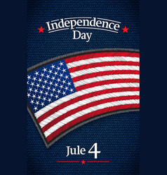 the fourth july american independence day vector image