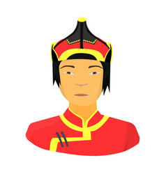 the mongols in the helmetmongolian national vector image