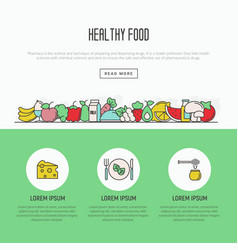 Thin line icons concept of organic food vector