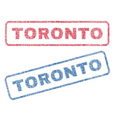 Toronto textile stamps vector