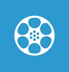 video film icon white on the blue background vector image