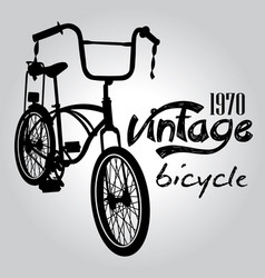 Vintage bicycle graphic design vector