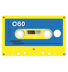 Vintage cassette vector