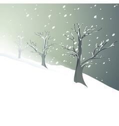 White Christmas trees vector