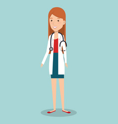 Woman professional doctor avatar vector
